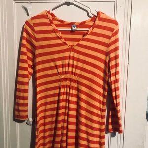 OLD NAVY Maternity top small orange stripe